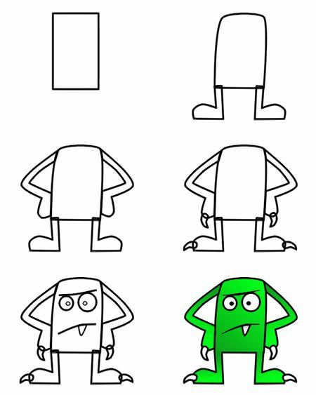Monster Drawing For Kids At Getdrawings Com Free For Personal Use