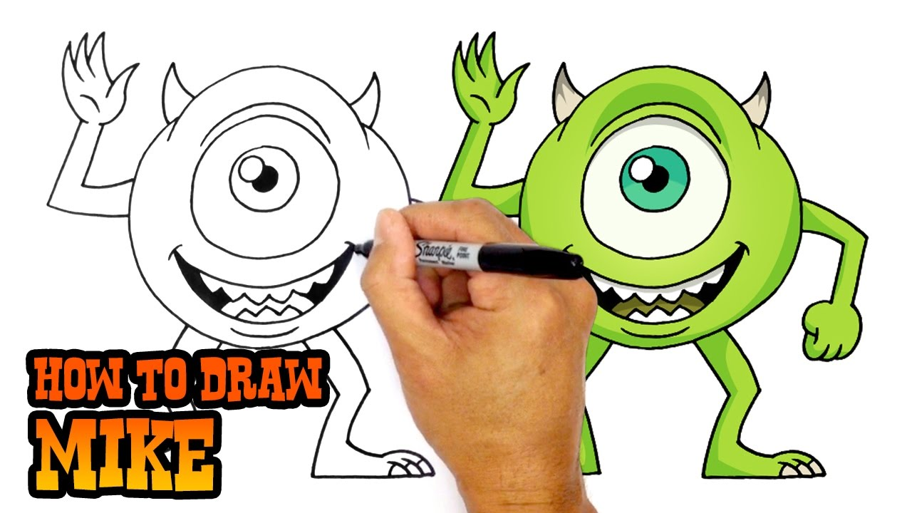 1280x720 How To Draw Mike Monsters Inc.