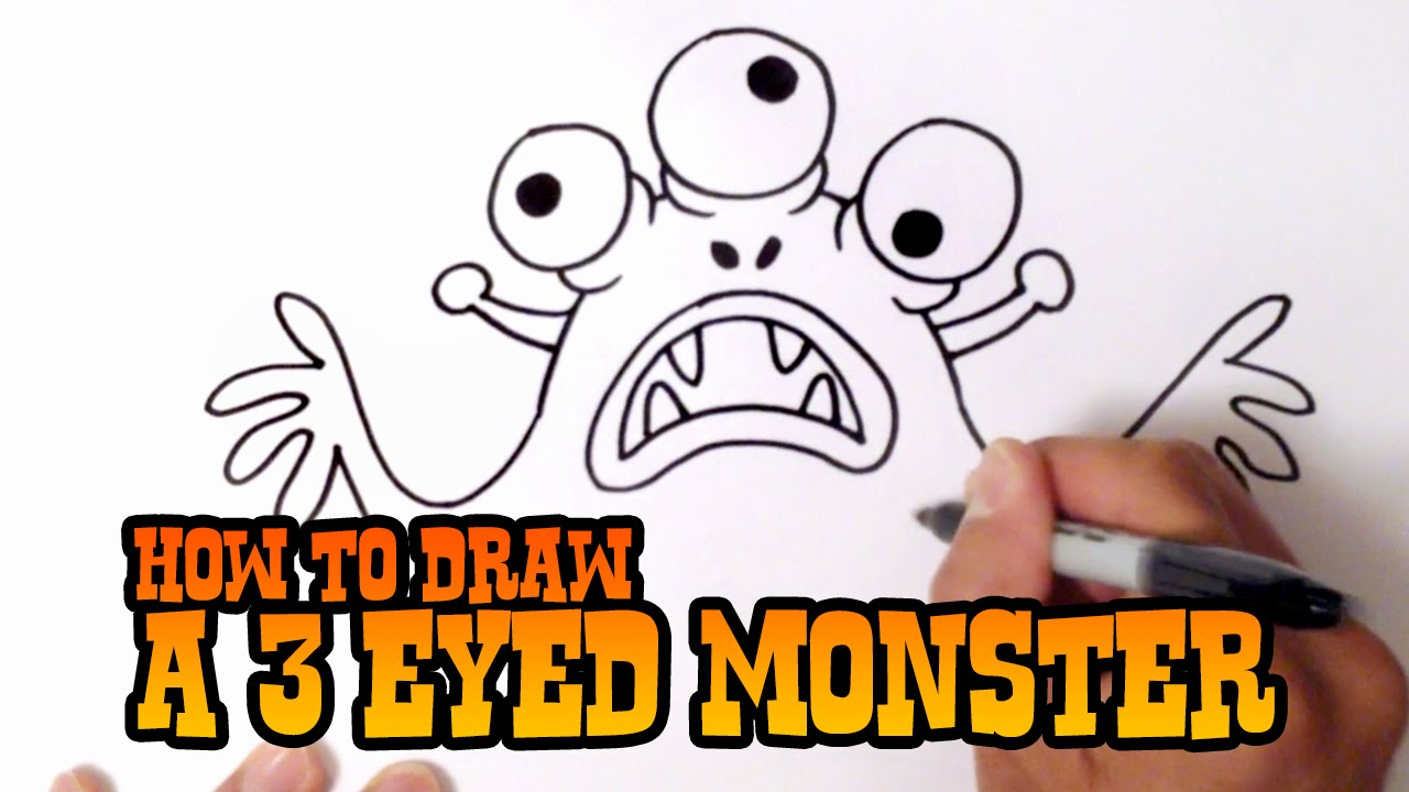 1280x720 How To Draw A 3 Eyed Monster