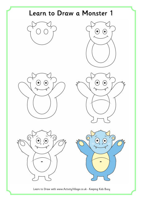 460x650 Learn To Draw A Monster 1 460