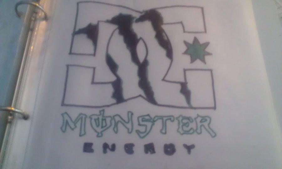 900x539 Dc Logo And Monster Energy Logo By Skittlelove1997