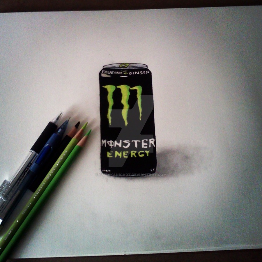 900x900 Energy Drink Drawing By Smackanicart