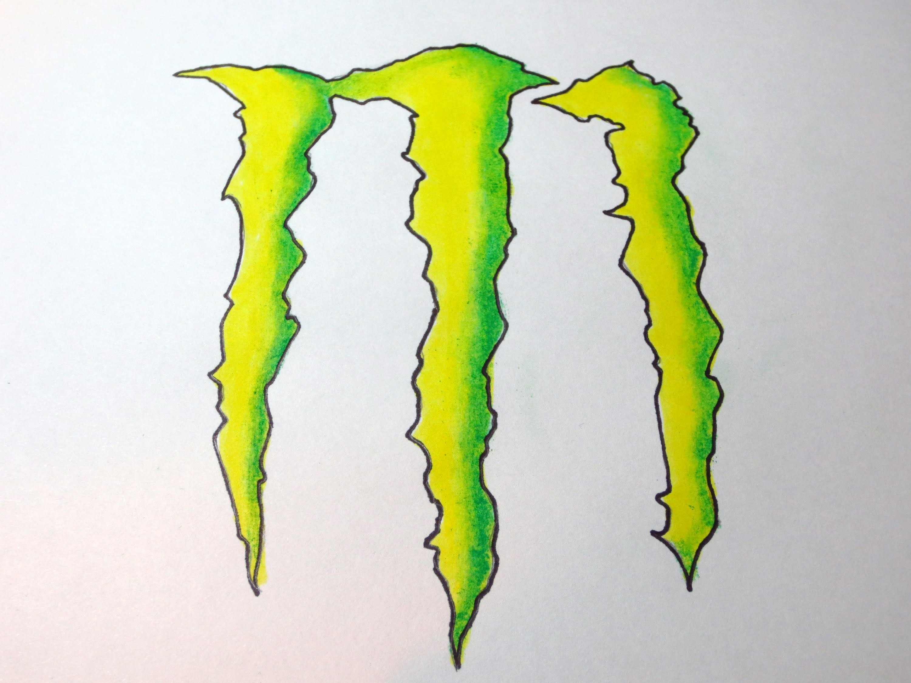 3000x2250 How To Draw Monster Energy Drink Logo
