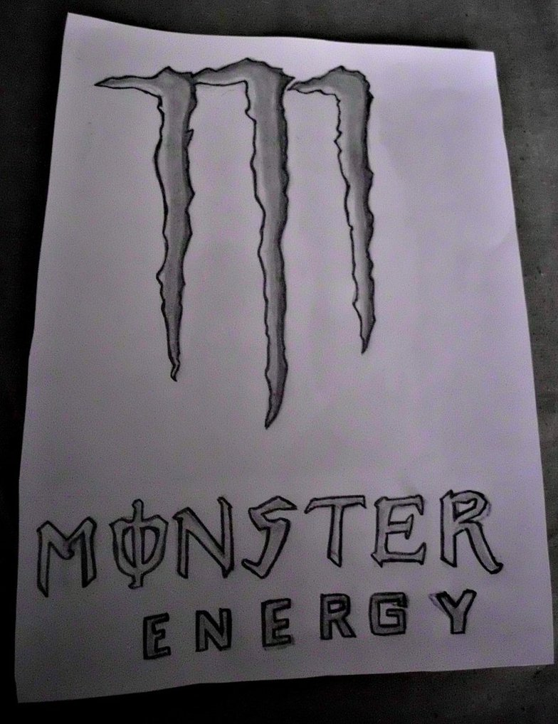784x1018 Monster Energy Drawing By Thecoolcosplayer22