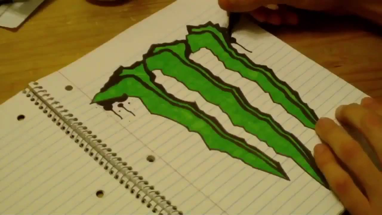 1280x720 Monster Energy Speed Drawing
