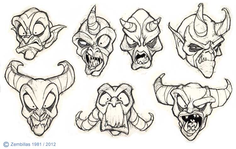 750x475 Monster Face Drawing