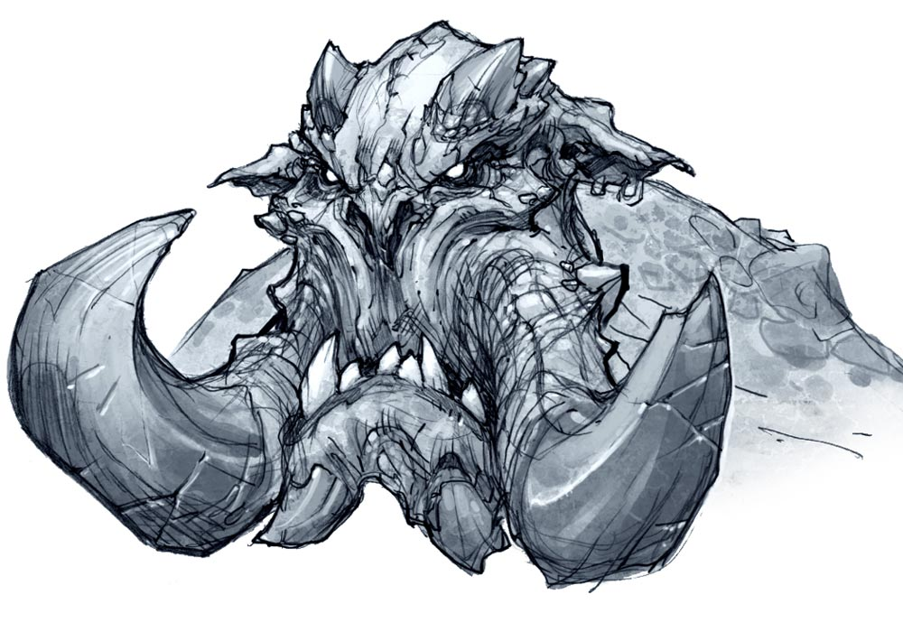 1000x700 Monster Face From Darksiders Ii Concept Art