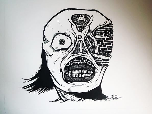 596x447 Surreal Monster Face By Hey Apathy Comics