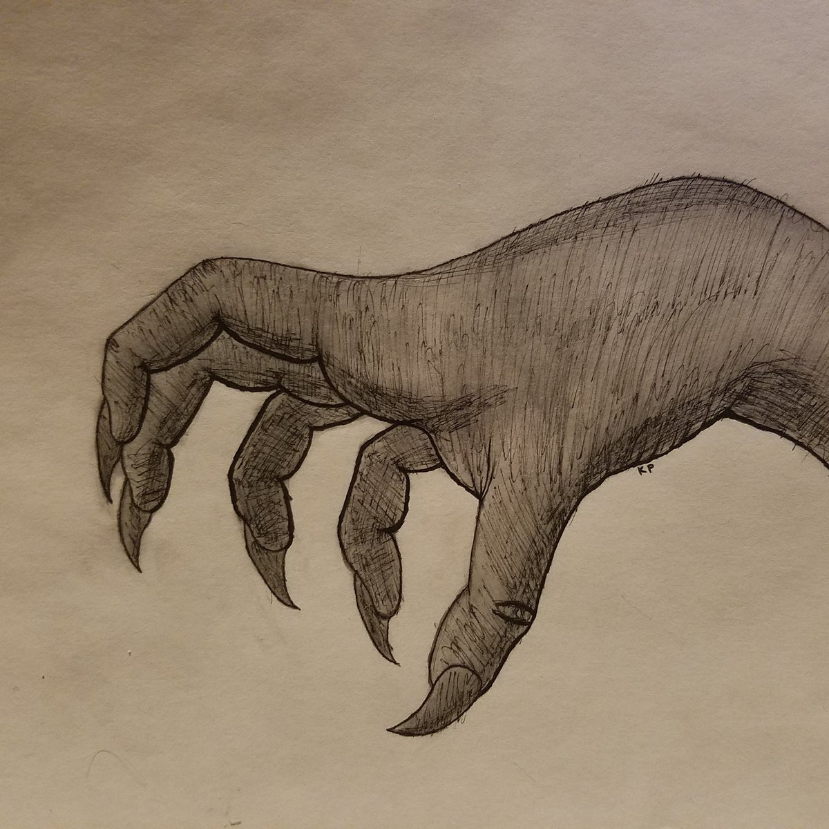 Monster Hand Drawing at GetDrawings.com | Free for personal use ...