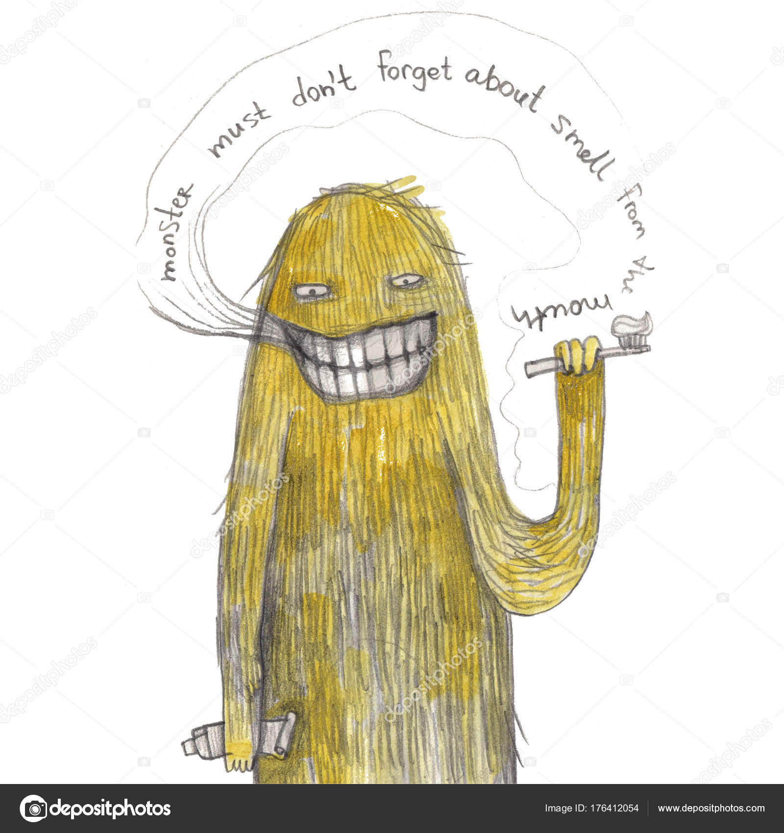 1600x1700 Lovely Monster Hand Drawing Illustration Can Used Print Stock