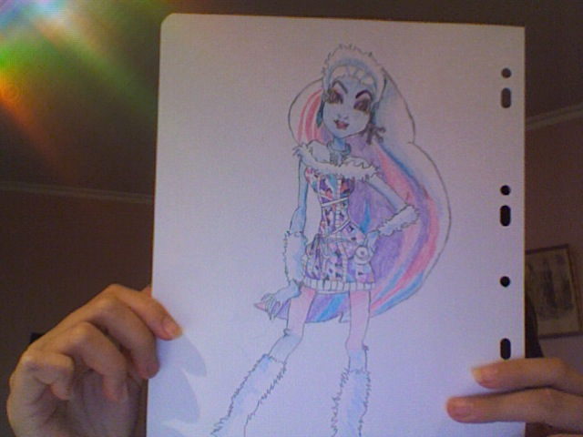 640x480 Abbey Bominable Monster High Drawing By Nouni14