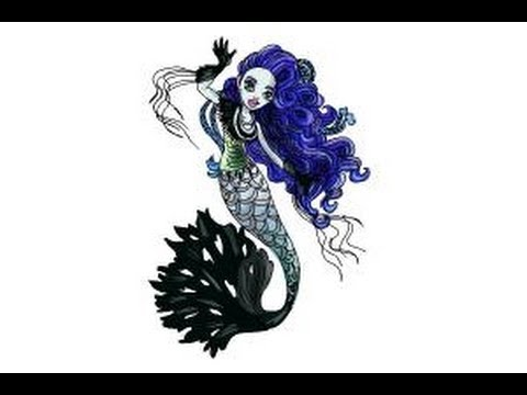 480x360 How To Draw Sirena Von Boo From Monster High Freaky Fusion