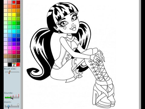 480x360 Monster High Coloring Pages For Kids