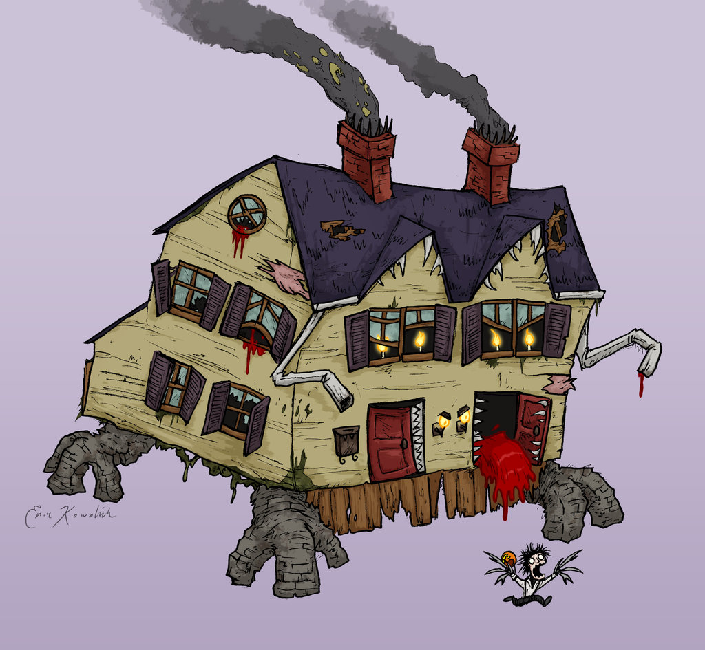 Monster House Drawing at GetDrawings com | Free for personal