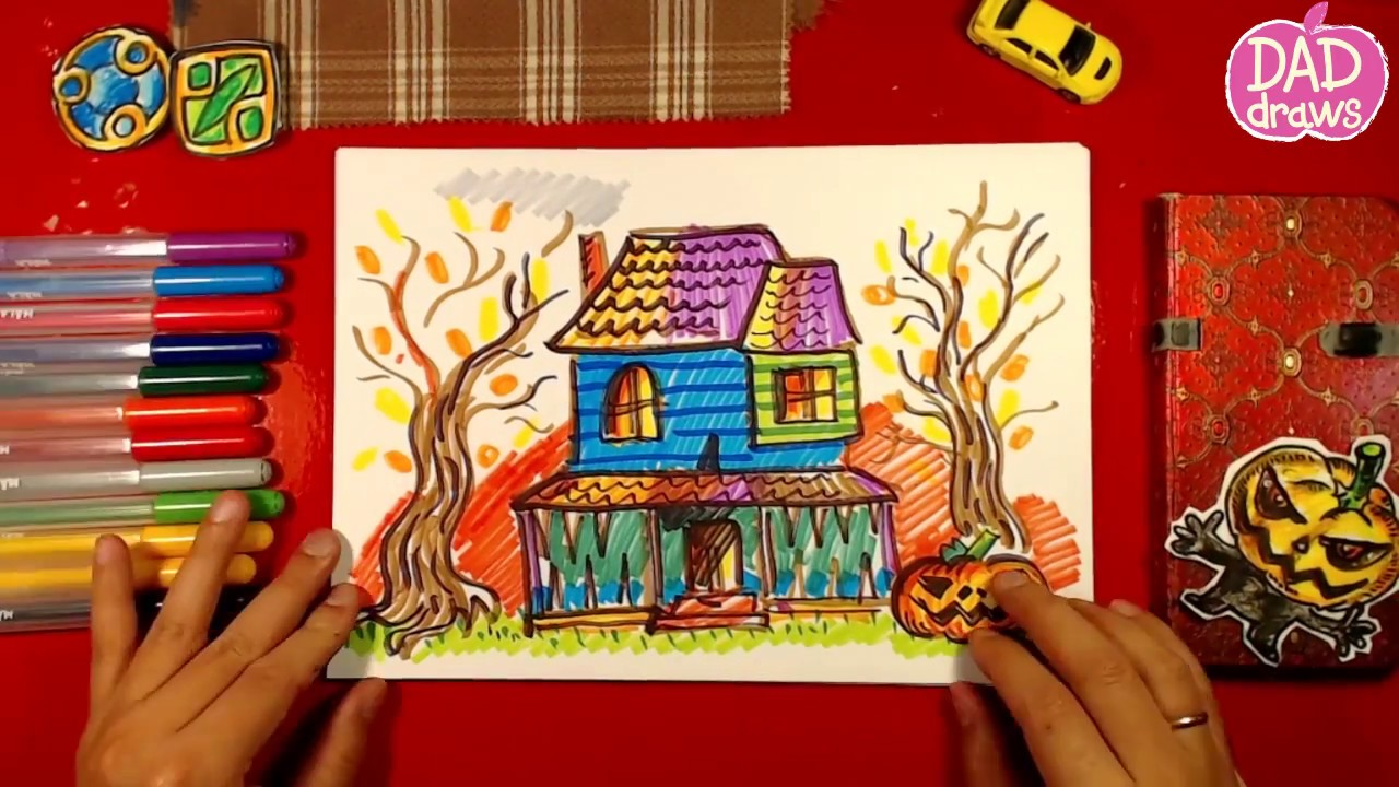 how to draw monster house