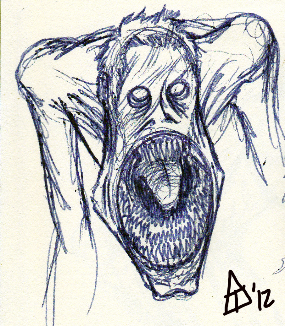 This is an image of Handy Scary Mouth Drawing