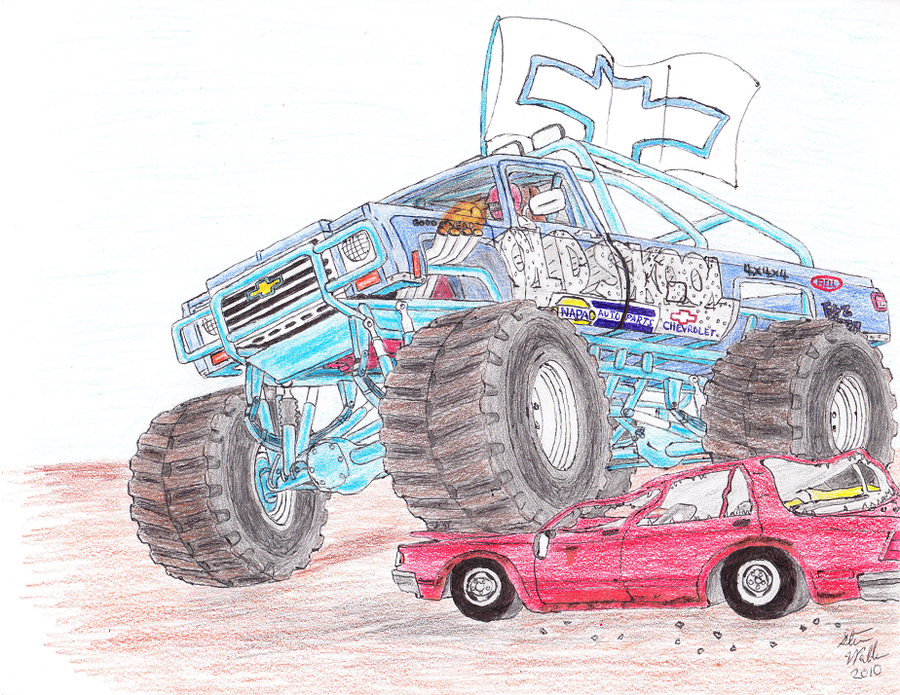 900x695 1976 Chevrolet Monster Truck By Deorse