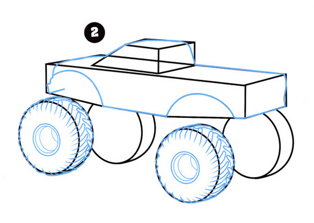 How To Draw A Monster Truck - Art For Kids Hub