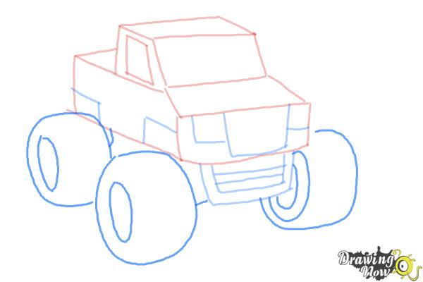 600x400 How To Draw A Monster Truck Step By Step