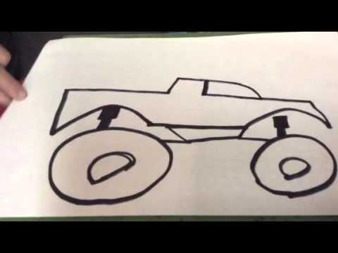 Line Drawing Monster : Monster truck drawing at getdrawings free for personal use