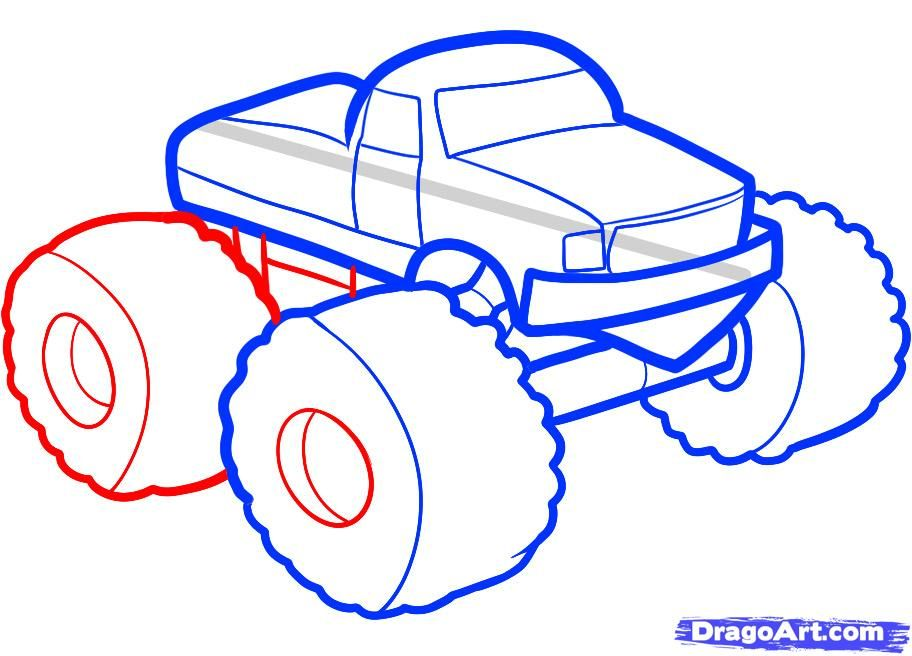 912x656 How To Draw A Monster Truck Behavior Monster
