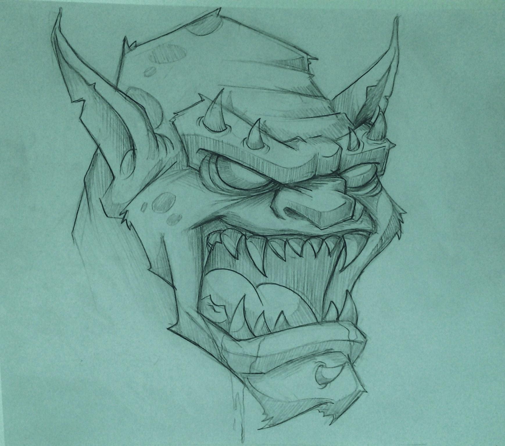 1738x1535 Pencil Drawings Of Monsters