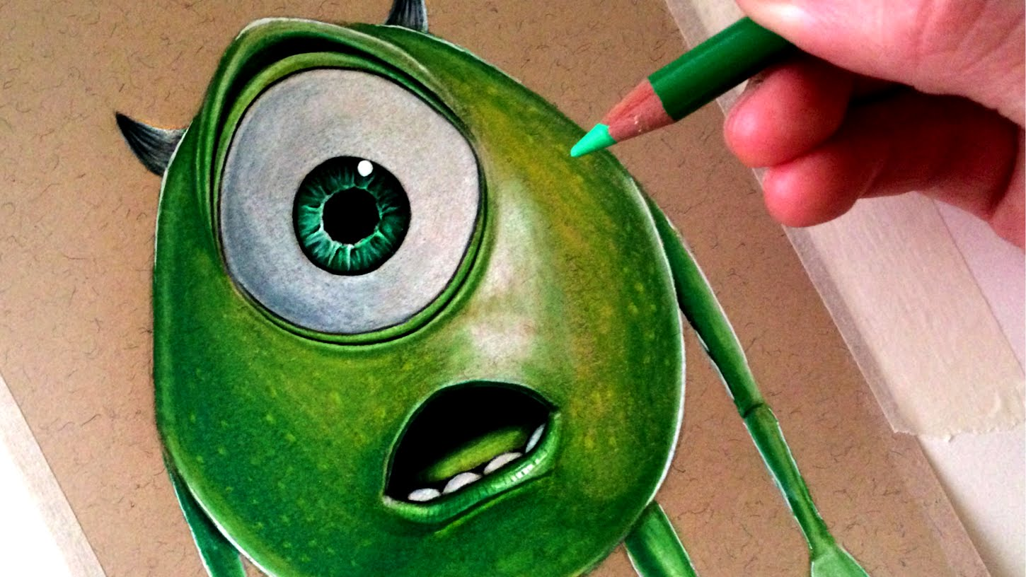 1450x816 Drawing Mike Wazowski From Monsters, Inc.