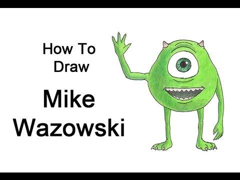 480x360 How To Draw Mike Wazowski (Monsters, Inc.)