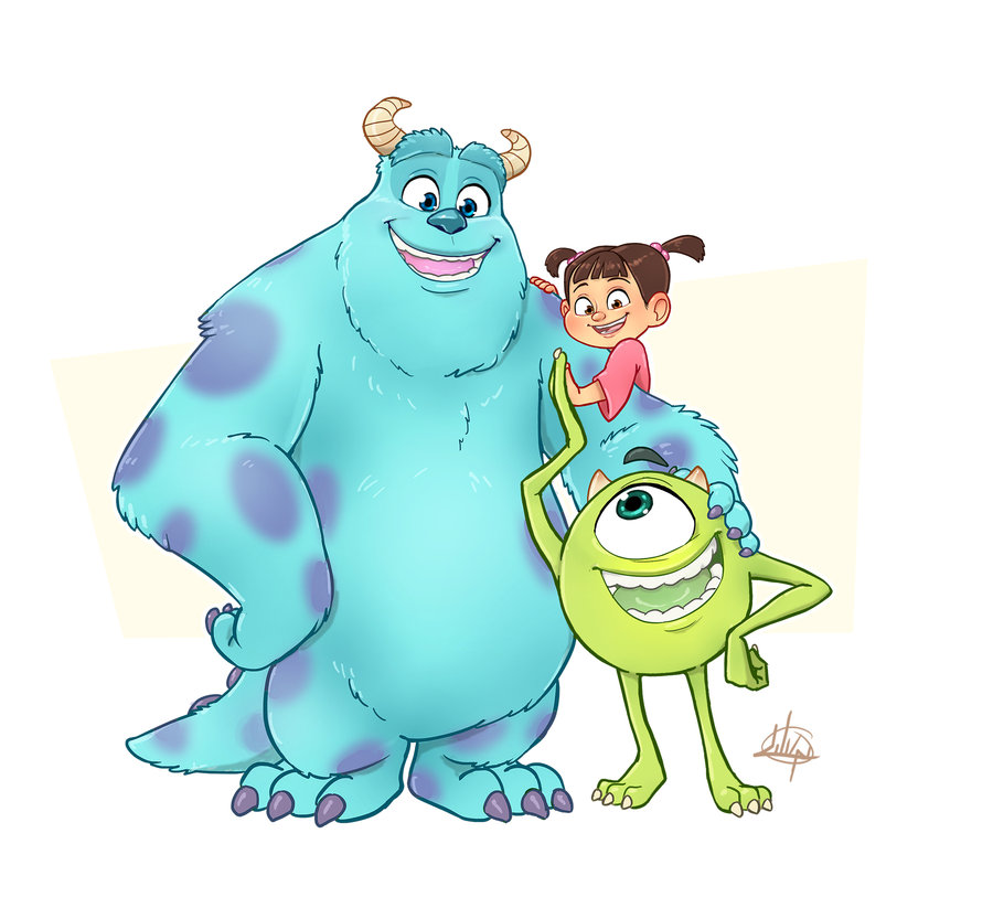900x823 Monsters Inc By On @ Disney