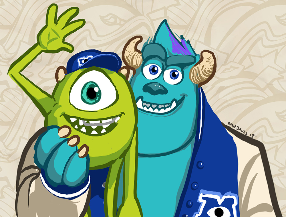1000x758 Monsters University Draw Something Ad By