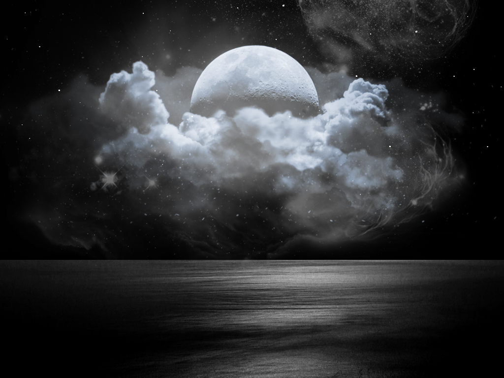 Moon And Clouds Drawing At Getdrawings Free Download