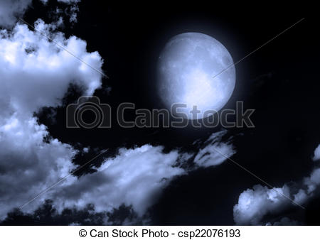 450x338 The Moon In The Night Sky In Clouds Elements Of This Image
