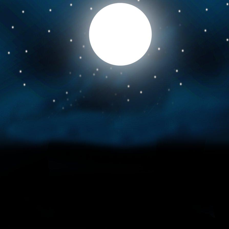 894x894 Moon And Stars Drawing By Dafredgle87