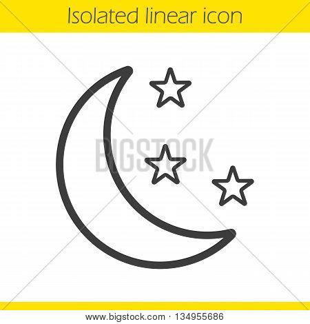 450x470 Night Linear Icon. Moon Stars Thin Vector Amp Photo Bigstock