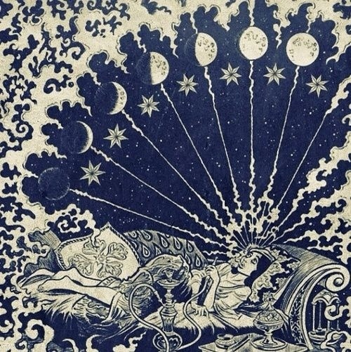 500x501 Love Drawing Art Beautiful Hippie Smoke Design Boho Full Moon Moon