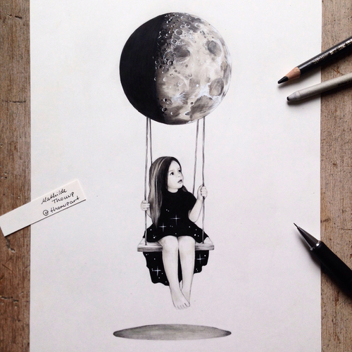 500x500 Moon Swing By Mathilde Thorup Instagram @thorupart