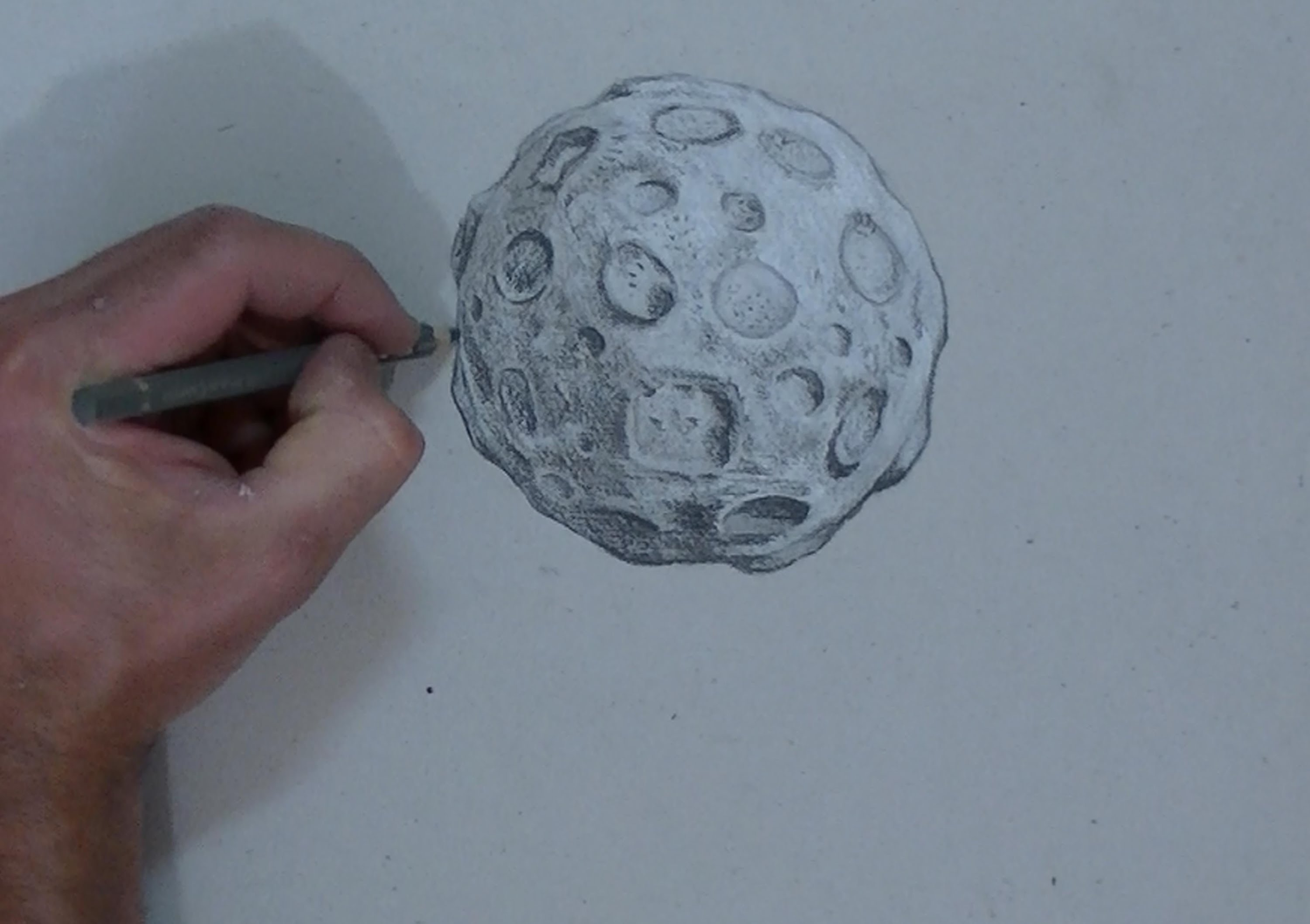 3000x2116 Drawing Moon