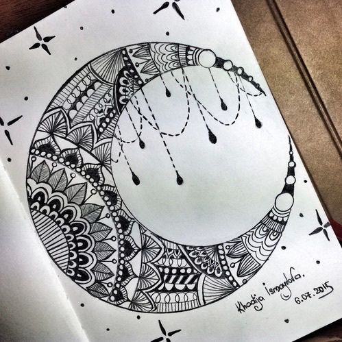 499x499 art, drawing, and moon Bild … Pinteres…