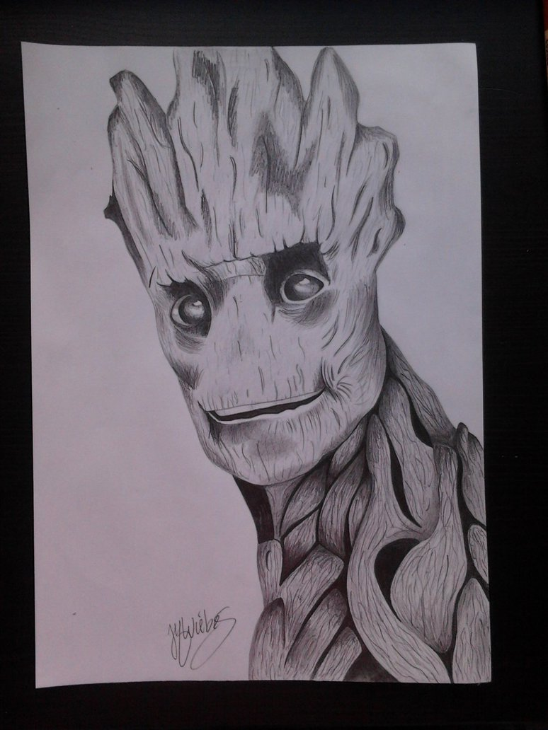 774x1032 gardians of the galaxy Groot by moon drawing on DeviantArt
