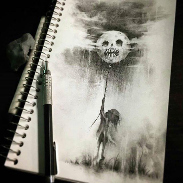 640x640 Moon' Pencil Sketch By @cwehrle