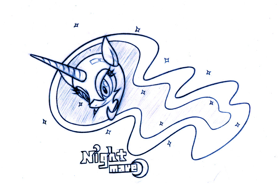 900x596 Pencil Drawing Of Nightmare Moon By Lordyanyu
