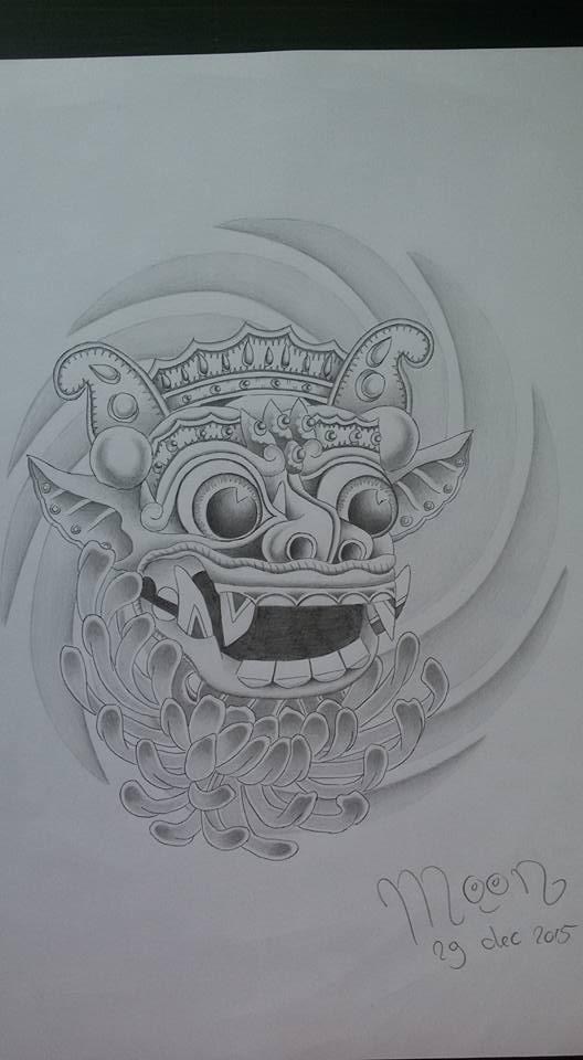 528x960 Barong Bali Drawing By Moon Drawing
