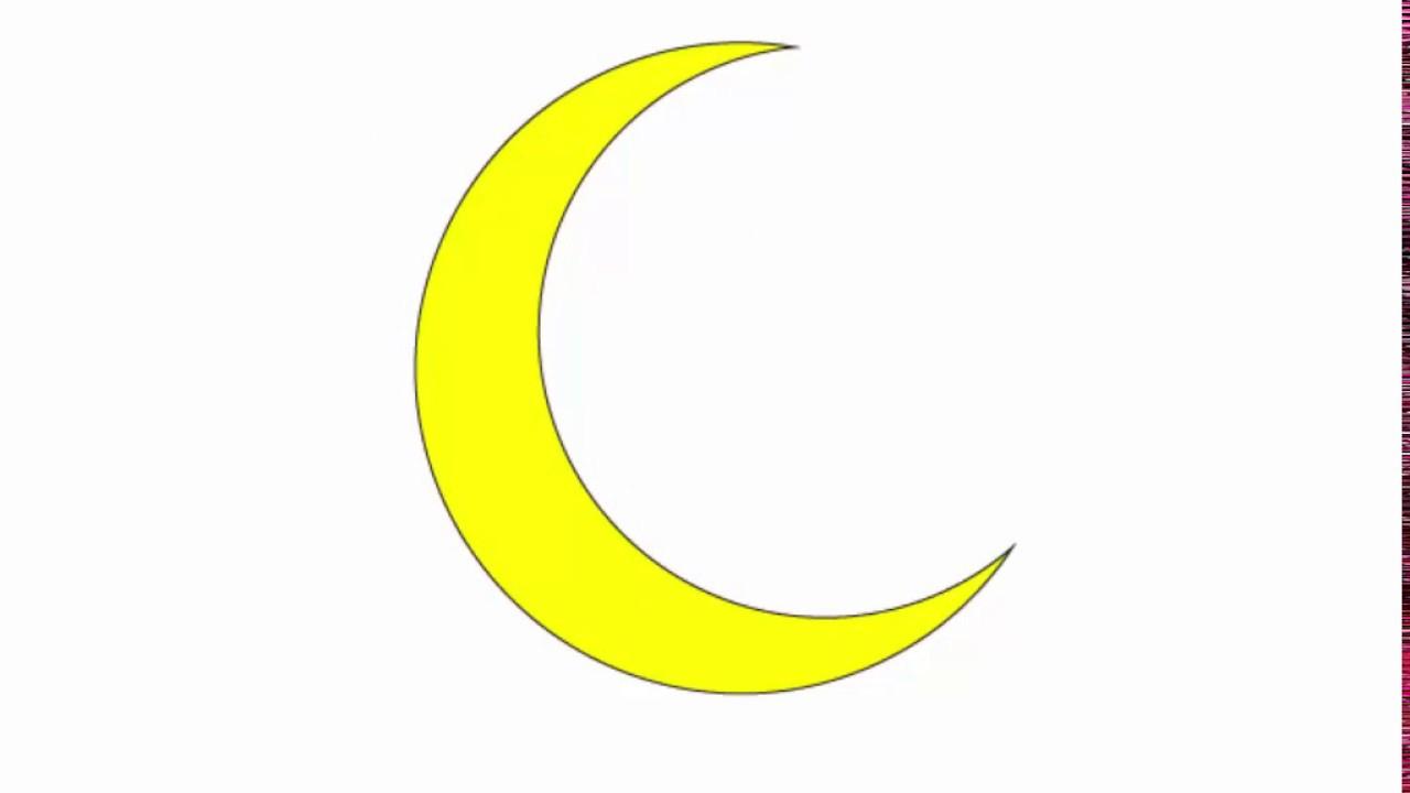 1280x720 Crescent Moon Drawing Crescent Moon