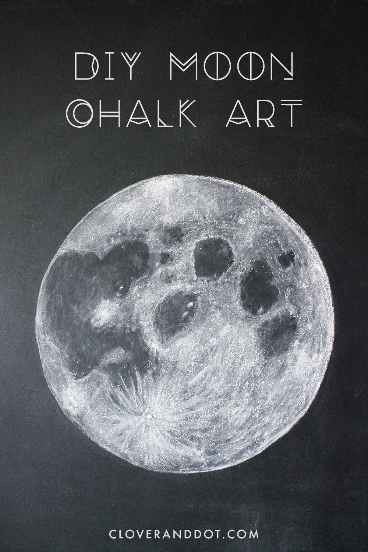 1000x1500 Diy Moon Chalkboard Art Cloverkate
