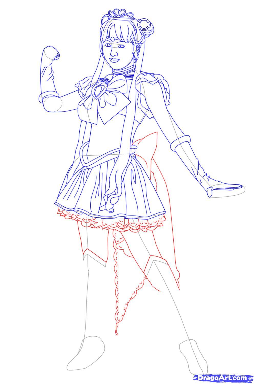 992x1500 Sailor Moon Drawing Tutorial How To Draw Princess Serenity