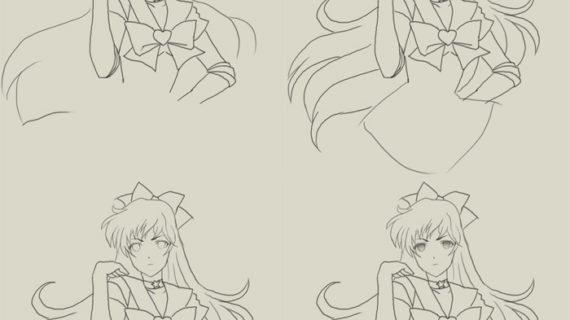 570x320 Sailor Moon Drawing Tutorial Sailor Moon Anime Step By Step