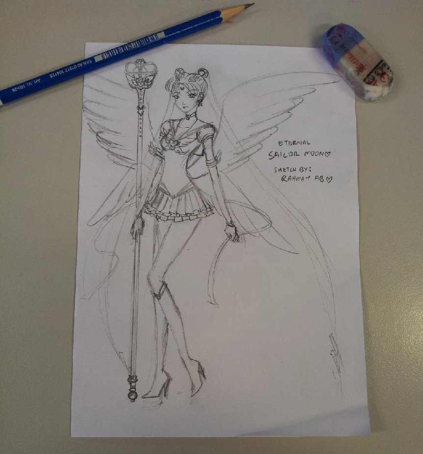 862x926 Eternal Sailor Moon Pencil Sketch~ By Devdassanzo229