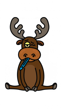 215x382 How To Draw A Moose, Easy Step By Step Drawing Tutorial