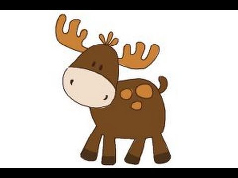 480x360 How To Draw A Moose For Kids
