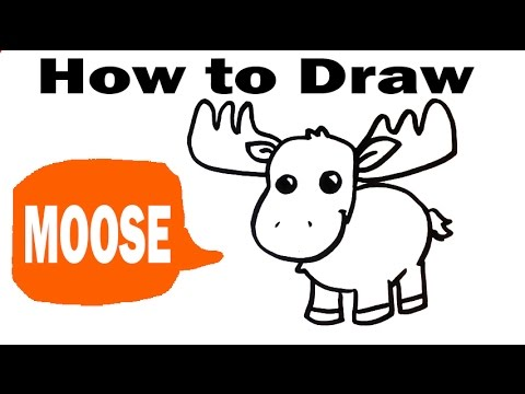 Moose drawing for kids at getdrawings free for personal use 480x360 how to draw a moose thecheapjerseys Gallery